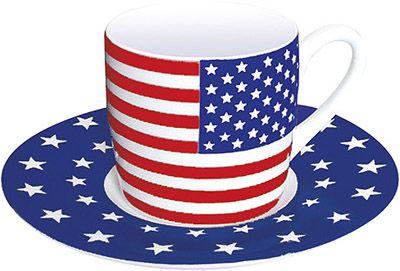 Hrnek na espresso s vlajkou USA