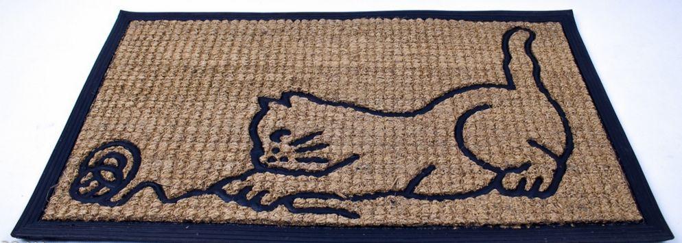 Rohožka gumová Kočka s klubíčkem