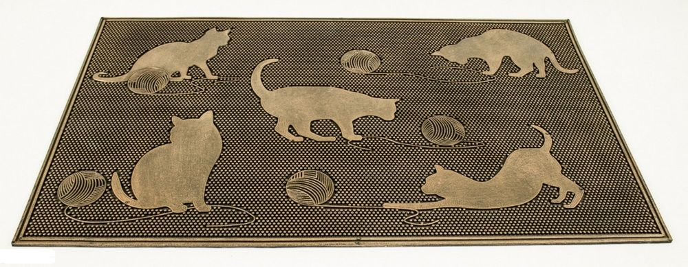 Rohožka s pěti kočkami