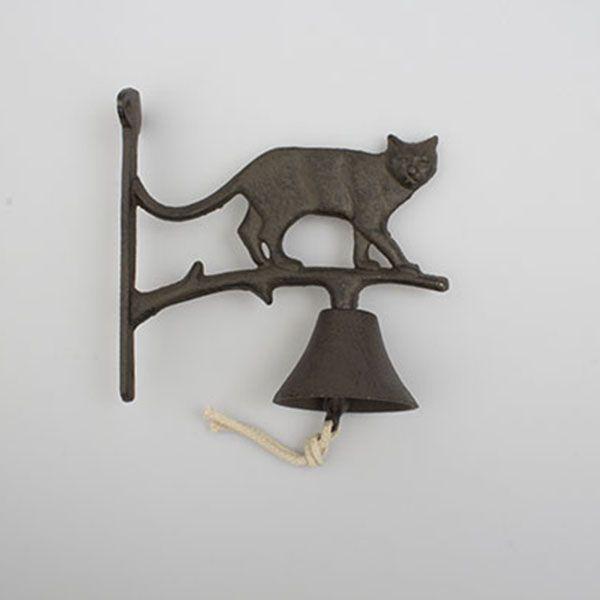 zvon litina kočka stojící