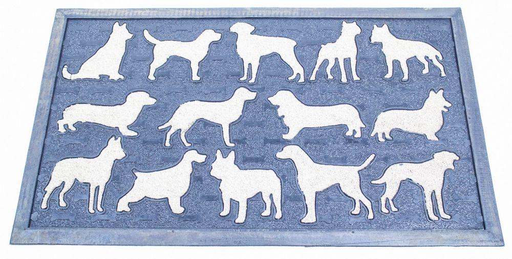 Gumová rohožka se psím motivem