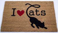Rohožka kokosová I love cats