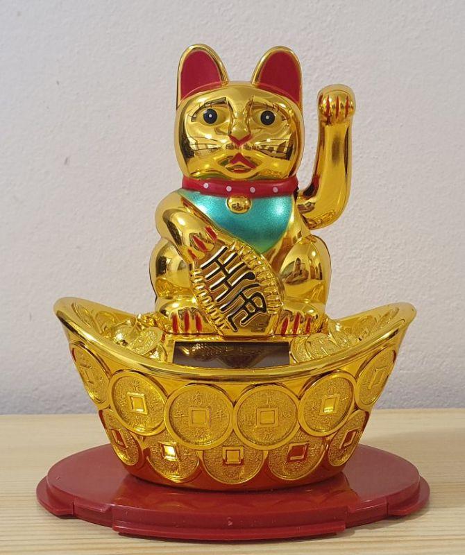 Čínská kočka pro štěstí 14 cm