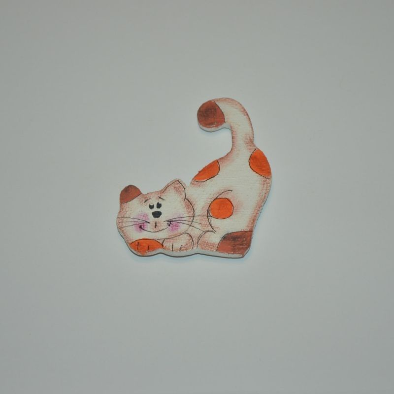 Magnet dřevěný kočka typ 17