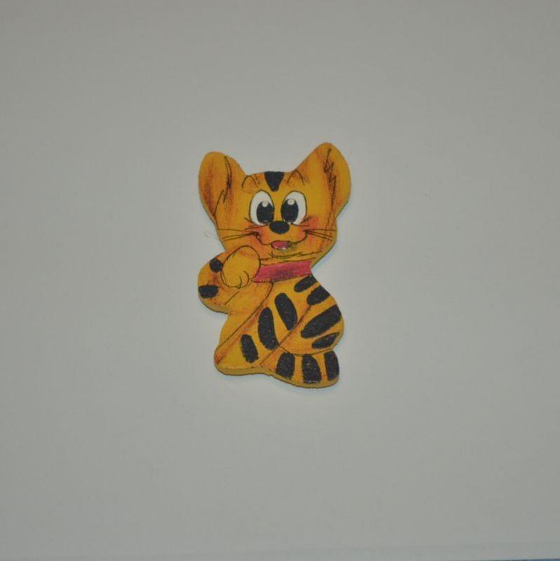 Magnet dřevěný kočka typ 21
