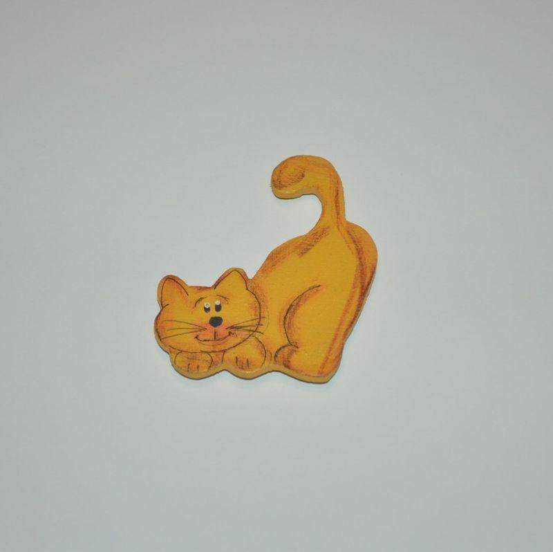 Magnet dřevěný kočka typ 28