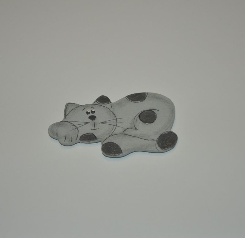 Magnet dřevěný kočka typ 3