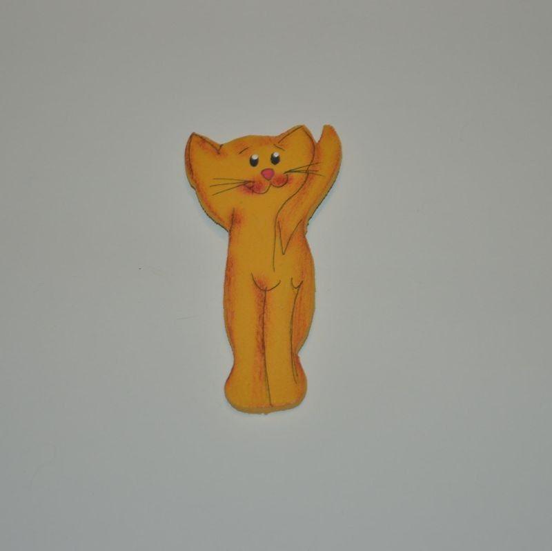 Magnet dřevěný kočka typ 4