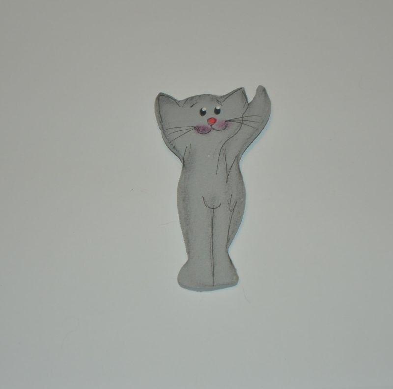 Magnet dřevěný kočka typ 5