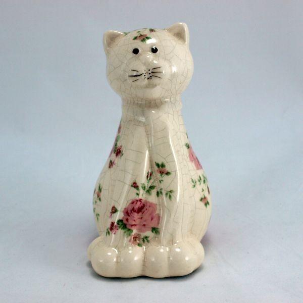 Retro soška kočka - růže