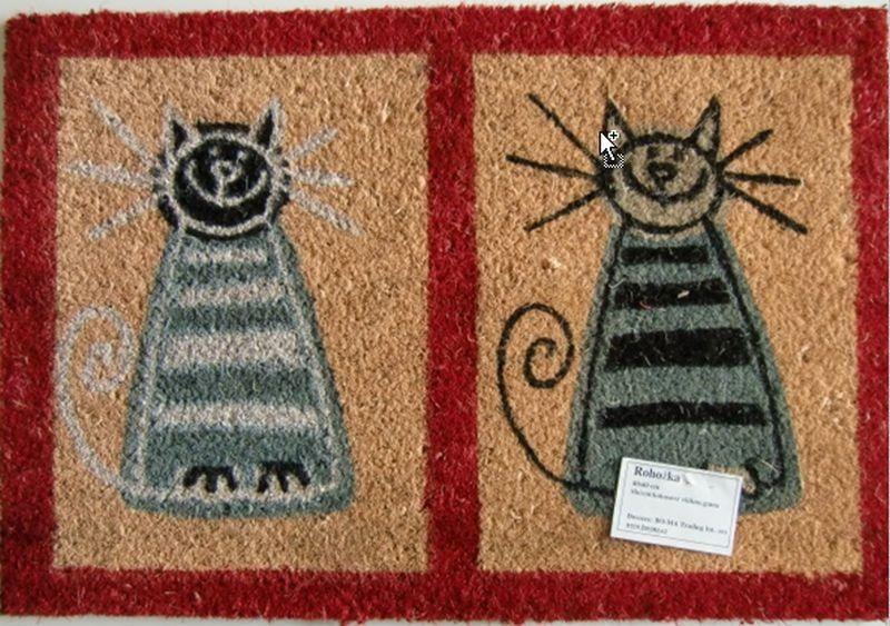 Rohožka dvě kočky