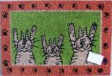 """Rohožka tři kočky """"ruce vzhůru"""""""
