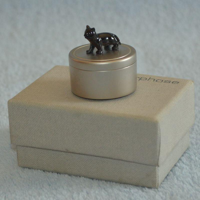 Šperkovnice na prsten černá kočka
