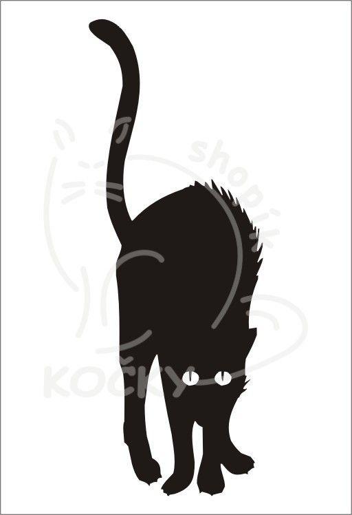 Samolepka zamyšlená kočka 0008