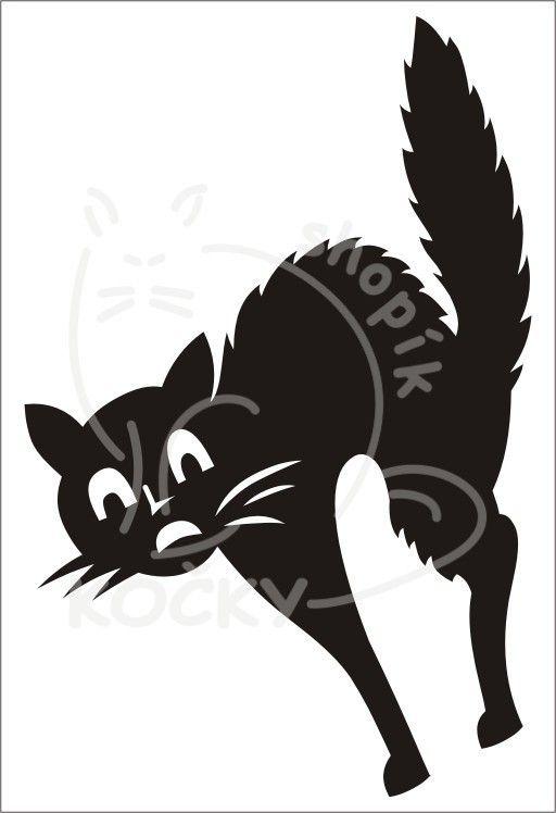 Samolepka kočka koumavá 0025