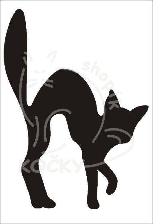 Samolepka číhající kočka 0033