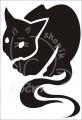 0039 Samolepka ďábelská kočka