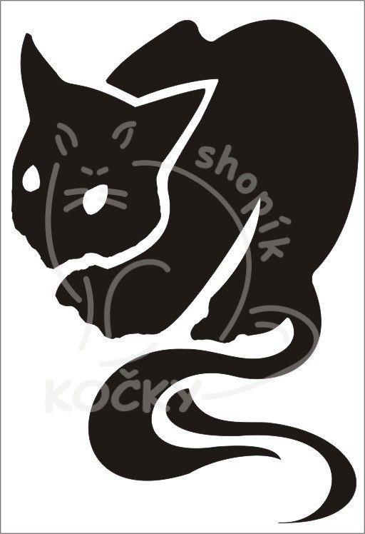 Samolepka ďábelská kočka 0039