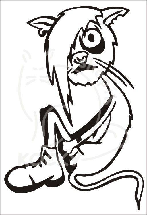 Samolepka Emo kočka 0045