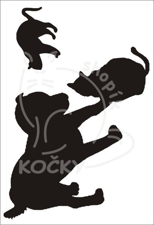 Samolepka pes a kočky 0047