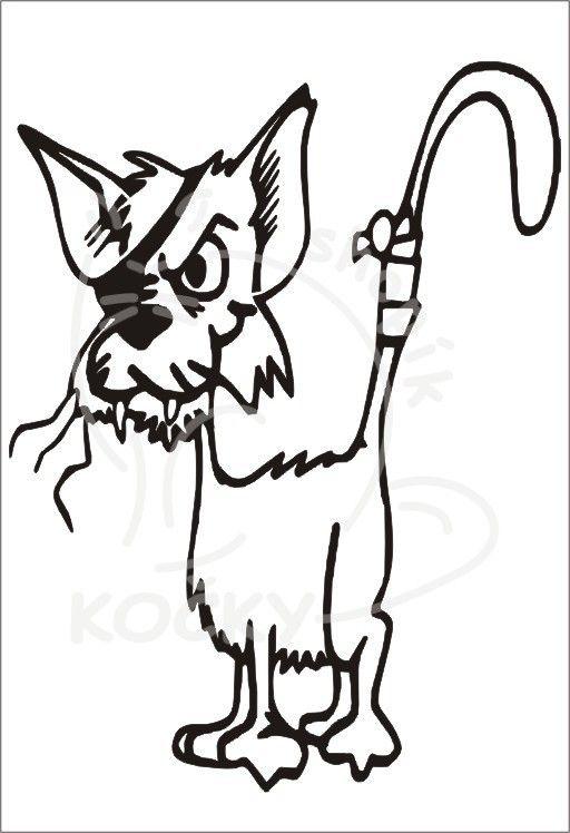 Samolepka kočka od popelnic 0049