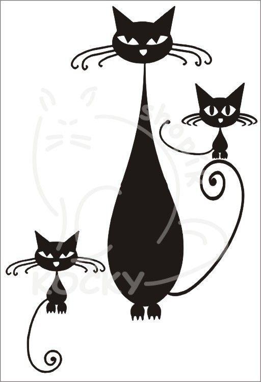Samolepka kočky na úrovni 0057