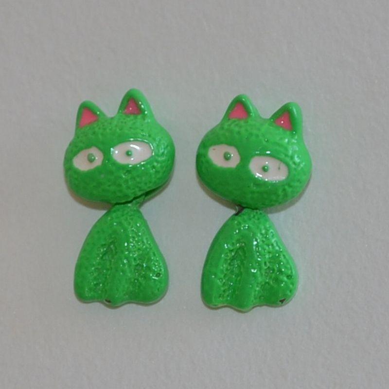 Náušnice kočka s pohyblivým tělíčkem