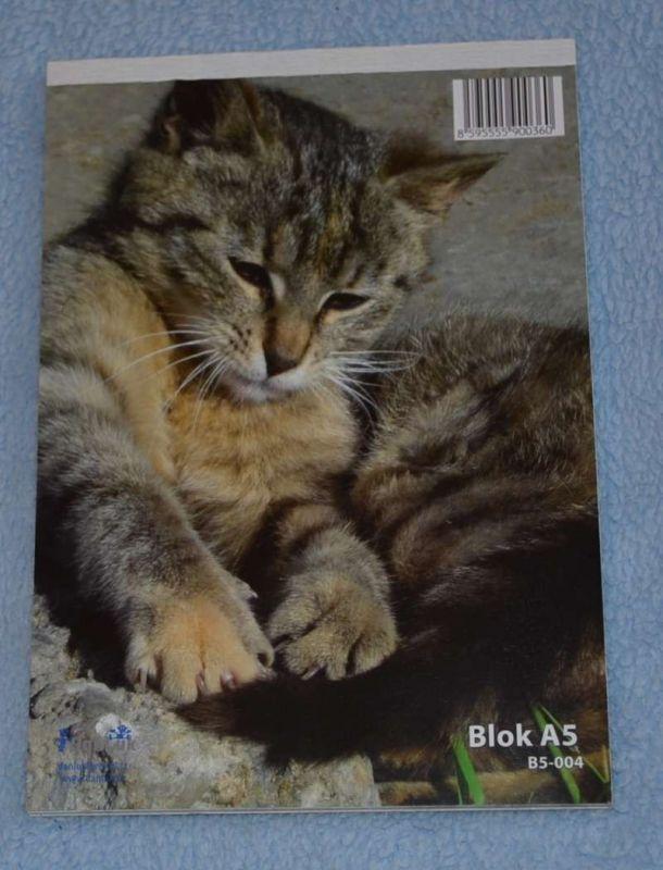 Poznámkový blok - dopisní papír - kočka