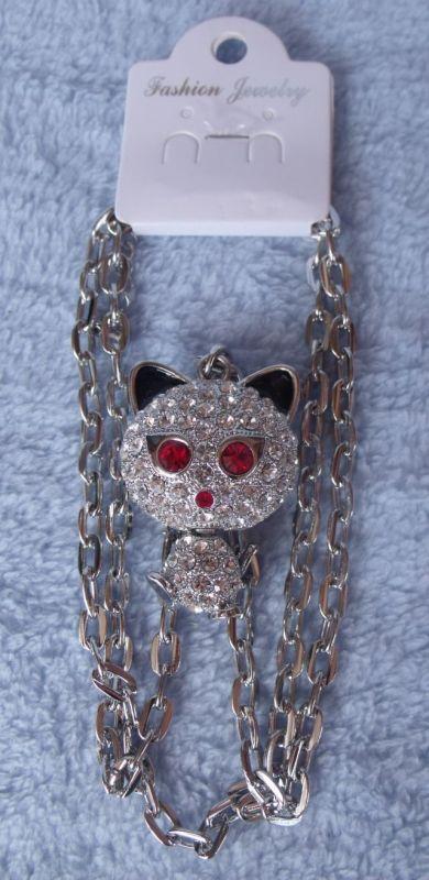Přívěšek na krk ďábelská kočka - velký