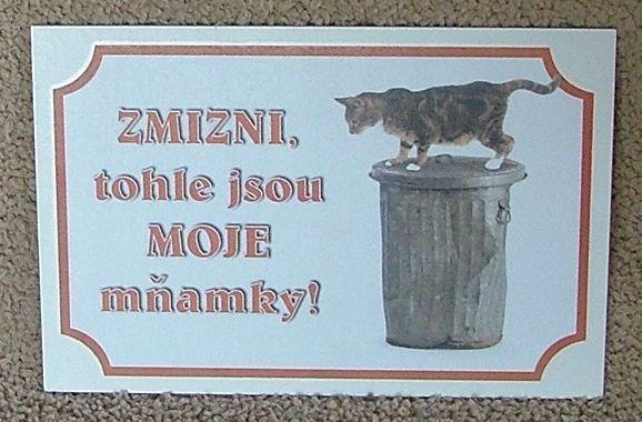 Tabulka kočka - moje mňamky