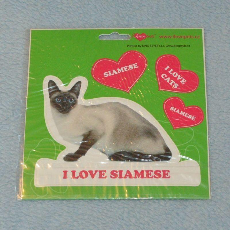 VELKÉ SAMOLEPKY SIAMESE - kočka siamská