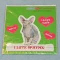 VELKÉ SAMOLEPKY SPHYNX - kočka Sphynx