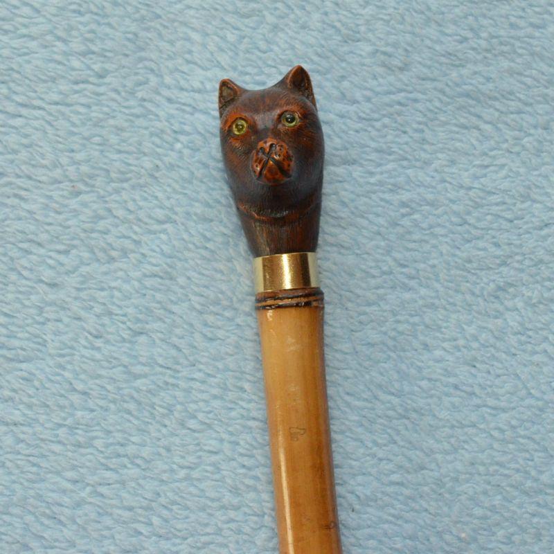 Vycházková hůl kočka