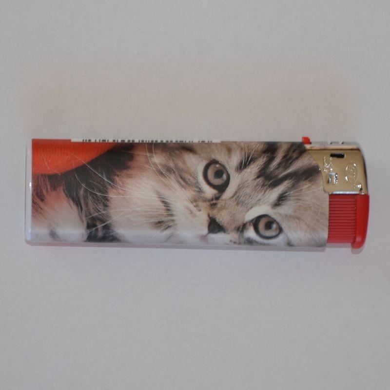Zapalovač Cat Face červený