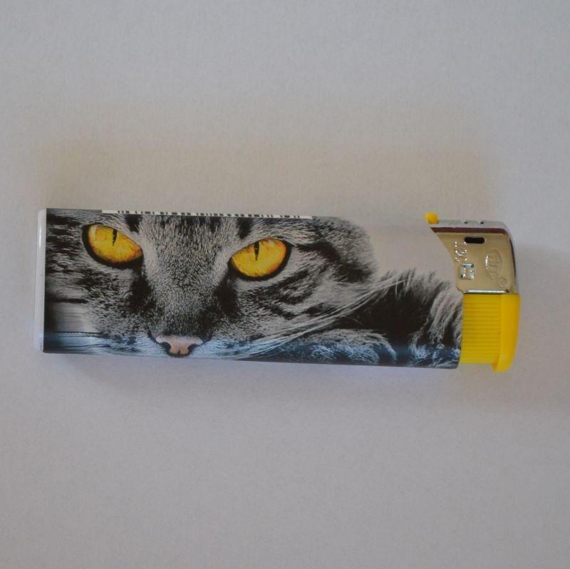 Zapalovač Cat Face žlutý