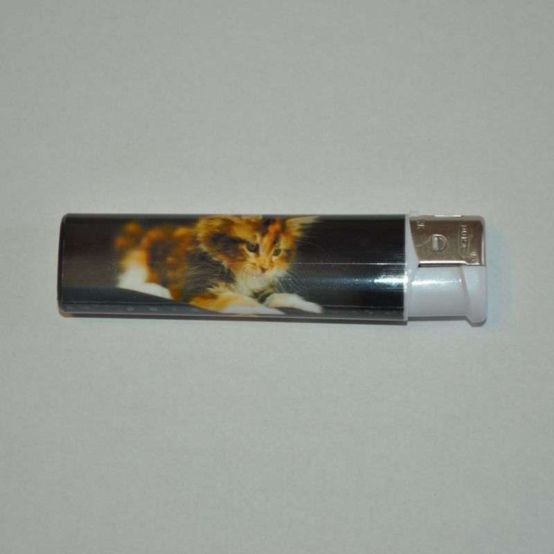 Zapalovač koťátko černý
