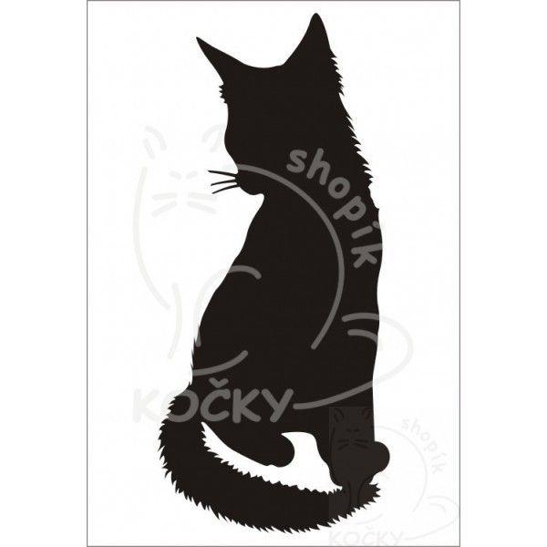 Nažehlovací obrázek kočka sedící dlouhosrstá 0004