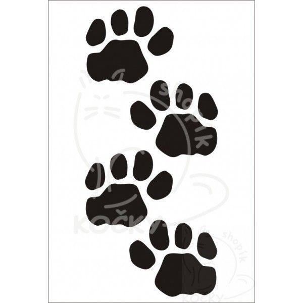 Nažehlovací obrázek kočičí ťapky malé 0005