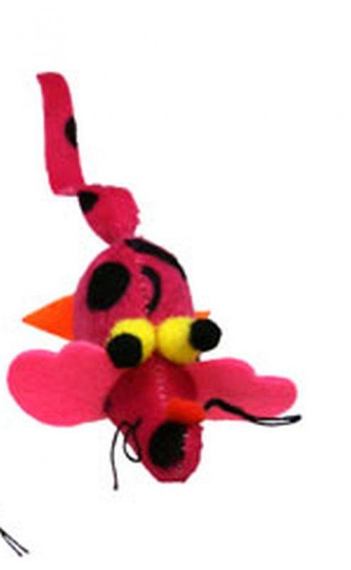 Hračka pro kočky s Catnipem - Critters růžová