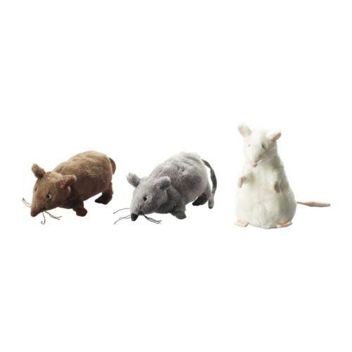 Plyšová myš se šantou kočičí